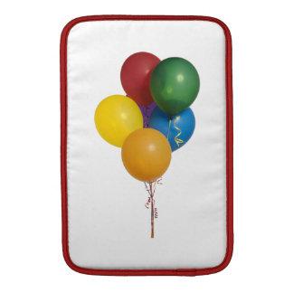 Globos coloreados multi del fiesta fundas macbook air