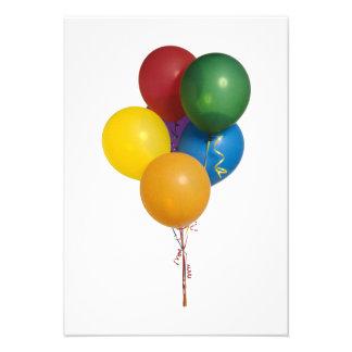 Globos coloreados multi del fiesta anuncios personalizados
