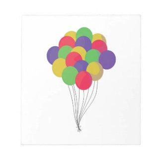Globos coloridos bloc de papel