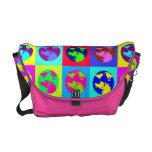 Globos coloridos bolsas de mensajeria