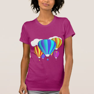 Globos coloridos del aire caliente camisetas