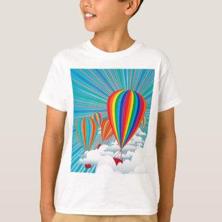 Globos coloridos del aire caliente remeras