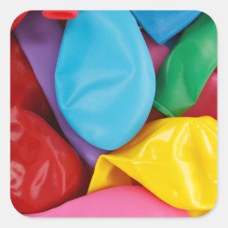 Globos coloridos pegatina cuadrada