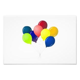 Globos coloridos impresión fotográfica