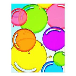 globos coloridos que bailan en el aire tarjetas publicitarias
