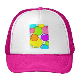 globos coloridos que bailan en el aire gorro