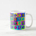 Globos coloridos taza de café