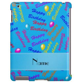 Globos conocidos del feliz cumpleaños del arco funda para iPad