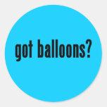 ¿globos conseguidos? etiqueta redonda