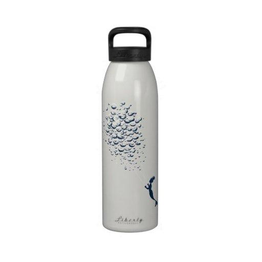Globos de agua botella de agua reutilizable