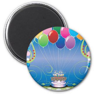 Globos de la fiesta de cumpleaños imán redondo 5 cm