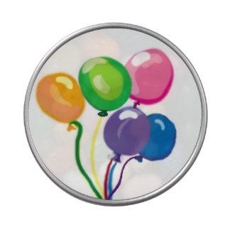 Globos de la fiesta de cumpleaños jarrones de caramelos