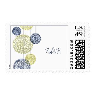 Globos de la guita de los azules marinos y del sellos