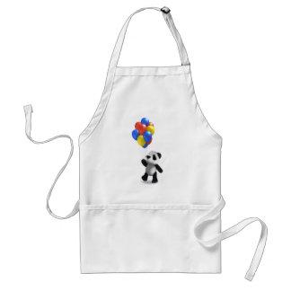 globos de la panda del bebé 3d delantal