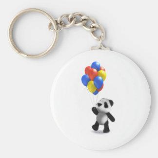 globos de la panda del bebé 3d llaveros personalizados