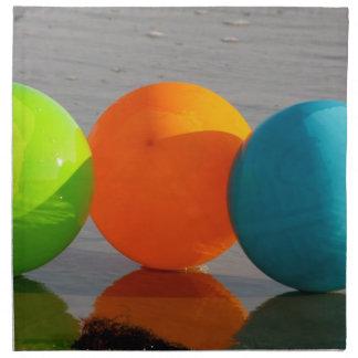 Globos de la pelota de playa servilletas imprimidas
