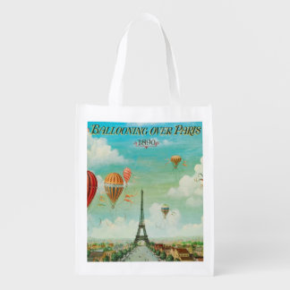 Globos de PixDezines sobre París Bolsa Para La Compra
