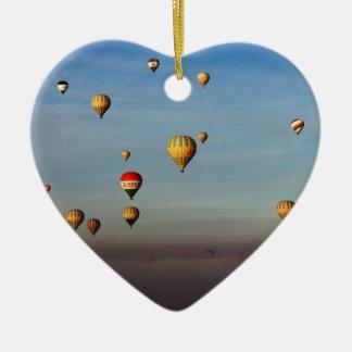Globos del aire caliente, Cappadocia Adorno Navideño De Cerámica En Forma De Corazón