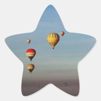 Globos del aire caliente, Cappadocia Pegatina En Forma De Estrella