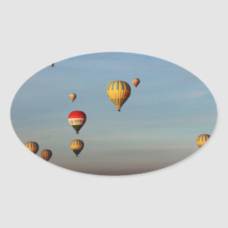 Globos del aire caliente, Cappadocia Pegatina Ovalada