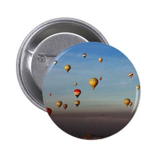 Globos del aire caliente, Cappadocia Pin Redondo De 2 Pulgadas
