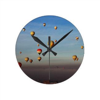 Globos del aire caliente, Cappadocia Reloj Redondo Mediano