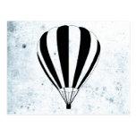 globos del aire caliente de la escena del sol tarjetas postales