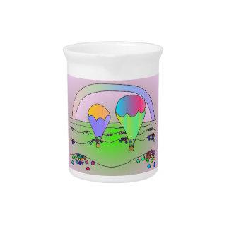 Globos del aire caliente del arco iris jarra para bebida