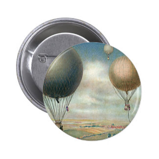 Globos del aire caliente del transporte del vintag pin