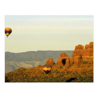 Globos del aire caliente en Sedona, Arizona, los Tarjetas Postales