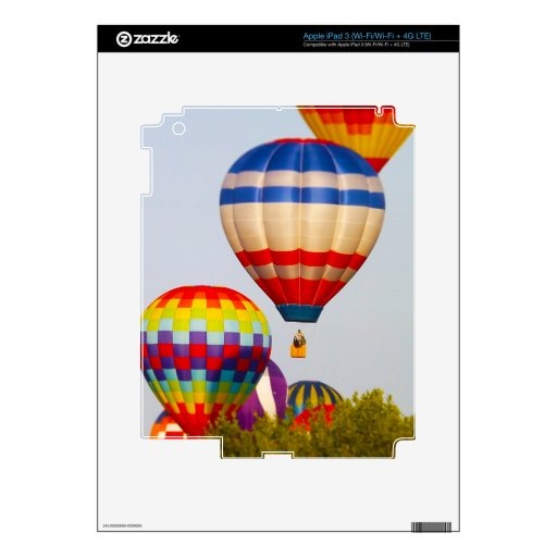 Globos del aire caliente, Fest del globo, Olathe,  Pegatina Skin Para iPad 3