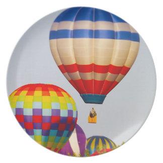 Globos del aire caliente Fest del globo Olathe Plato Para Fiesta
