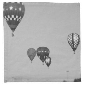 Globos del aire caliente, Fest del globo, Olathe,  Servilleta Imprimida