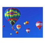 globos del aire caliente postal