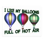 Globos del aire caliente postales