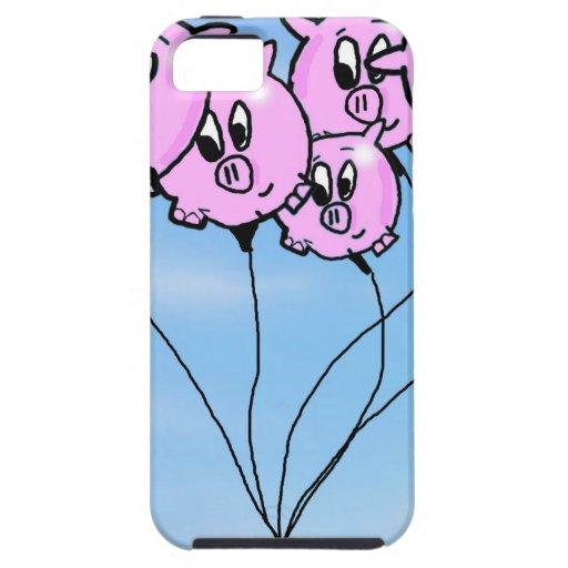Globos del cerdo iPhone 5 carcasa