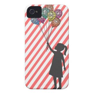 Globos del chica de sueño de los flotadores de la iPhone 4 Case-Mate cárcasa