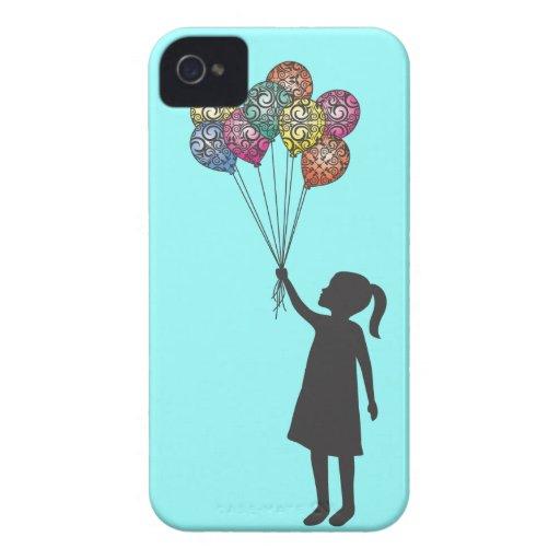 Globos del chica de sueño de los flotadores de la iPhone 4 Case-Mate coberturas