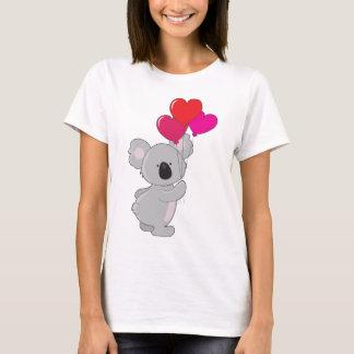 Globos del corazón de la koala playera