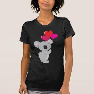 Globos del corazón de la koala camisetas