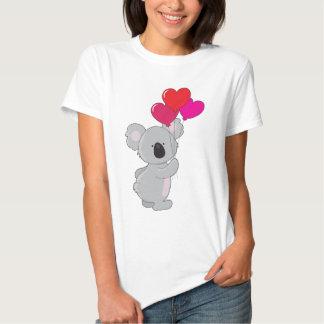 Globos del corazón de la koala polera