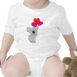 Globos del corazón de la koala traje de bebé