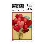 Globos del corazón de la tarjeta del día de San Va