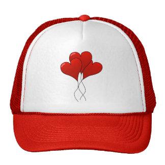 Globos del corazón gorras