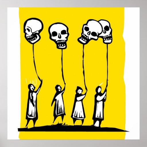 Globos del cráneo póster