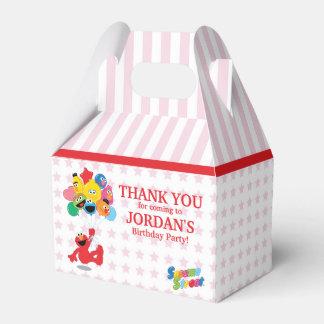Globos del cumpleaños de Elmo y de los Pals Caja Para Regalos De Fiestas