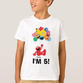 Globos del cumpleaños de Elmo y de los Pals Playera