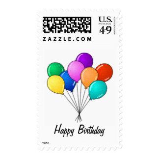 Globos del cumpleaños sellos