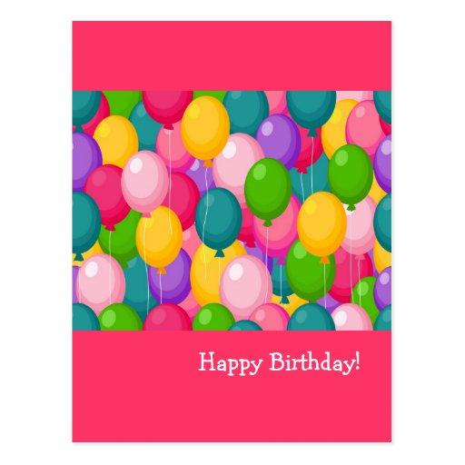 Globos del cumpleaños tarjetas postales
