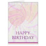 Globos del ~ de la tarjeta de cumpleaños